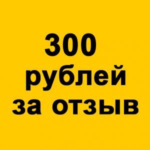 300 рублей за отзыв!